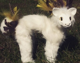 Feather Creature Art Doll