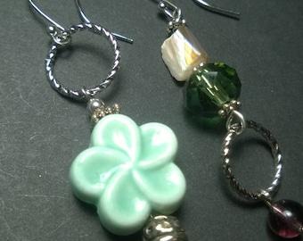 Ceramic Plumeria Flower Earrings