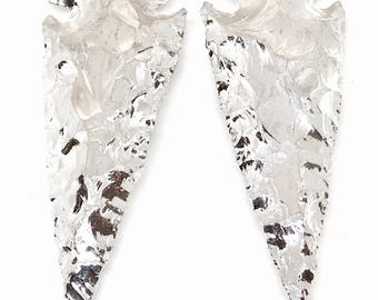 XL Silver Arrowhead Pendants