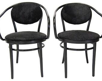 Thonet Chairs w/ Cowhide (pair)