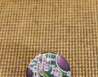 """Green & Black Circuit Board Button. 1.25"""" Button. Nerd Accessories. Green Pin. Geekery. Engineer. Programmer. Coder. Computer."""