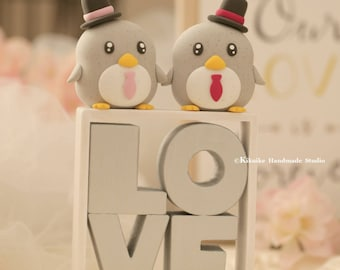 penguin wedding cake topper --Special Edition,penguin wedding cake topper