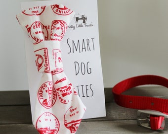 Red Stamps Handmade Smart Dog Tie