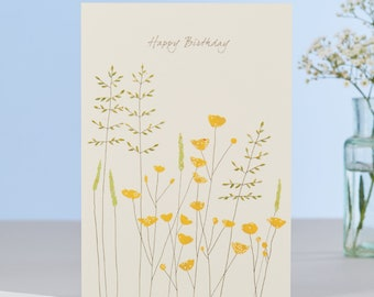 Buttercups Birthday Card