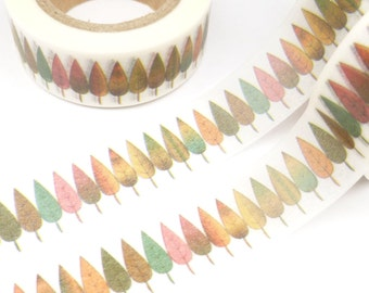 Kleurrijk, Uniform bomen of verlaat Washi Tape - R670