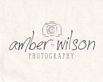 Photography logo design photography watermark camera logo. Instant download DIY psd logo template