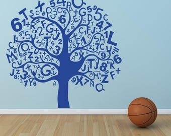 Mathematical Tree Wall decal, Maths Tree Wall Decal, Numbers vinyl, Kids room wall decal, Children wall decal, Kids room decal, Wall art 287