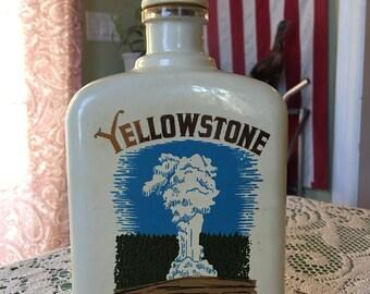 vintage yellowstone decanter!