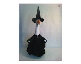 Goose Clothing  - Black Felt Witch Dress for Plastic or Concrete Lawn Goose
