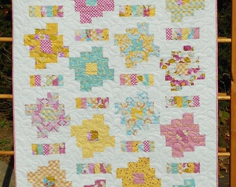 Baby Quilt Pattern - Layer Cake and Honey Bun Friendly - Honey Cakes Baby Quilt Pattern - Hard Copy Version - FREE SHIPPING!!