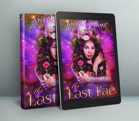 premade book cover art with fantasy fairy portrait