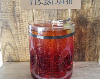 Old Fashioned with Olives Drink Candle