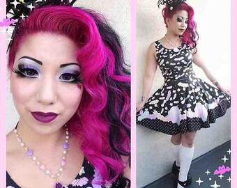 Conversation Candy Bats Creepy Cupcake Dress, Eyeball Dress, Bat Dress
