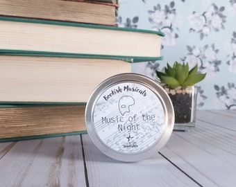 Music of the Night | 4 oz Candle | Phantom of the Opera | Bookish Musical | Floating Starlights