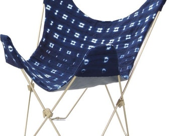 Indigo Butterfly Chair Cover and Frame