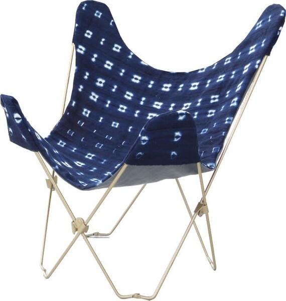 Indigo Butterfly Chair Abdeckung und Rahmen