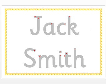 Name Tracing, Write your name, personalised name card, EYFS, early learning resource, teaching resource, letter tracing,