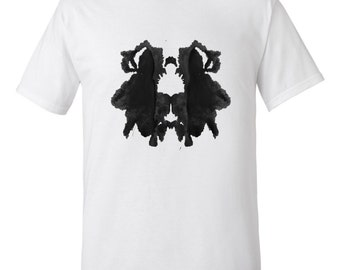 Ink Blot Artwork Rorschach Psychology Test T Shirt Mens Style 29