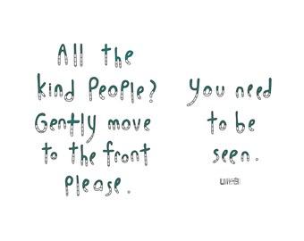 Haiku Art // Kind People