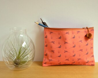 Printed Pheasants pouch