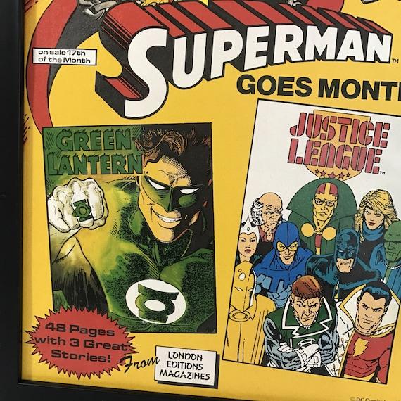 Retro Comic Frame Vintage Superman, 1980\'s Magazine Art Wall, Decor ...