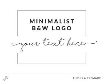Minimalist Logo - Premade Logo / Blogger Header Design / Premade Blog Header / Black logo / Minimal logo