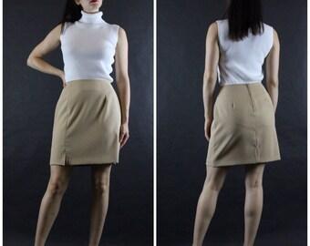90's High Waist Tan Skirt