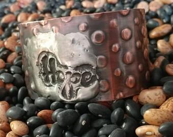 Copper Stamped Cuff- Artisan Jewelry