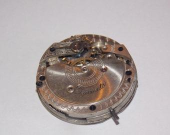 Antique 36mm Etched Pocket Watch Movement