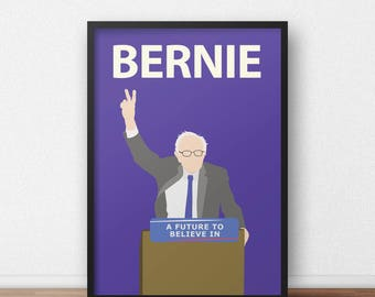 Bernie Sanders Poster  // Minimalist Print - Inspirational Art - Classroom Poster - Socialism - Politics