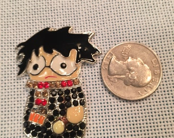 Crystal bling needle minder