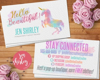 Business cards etsy business cards home office approved branding business cards unicorn card marketing reheart Choice Image