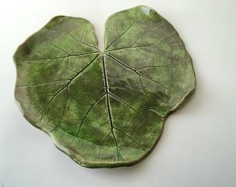Ceramic Leaf- Hollyhock - Large