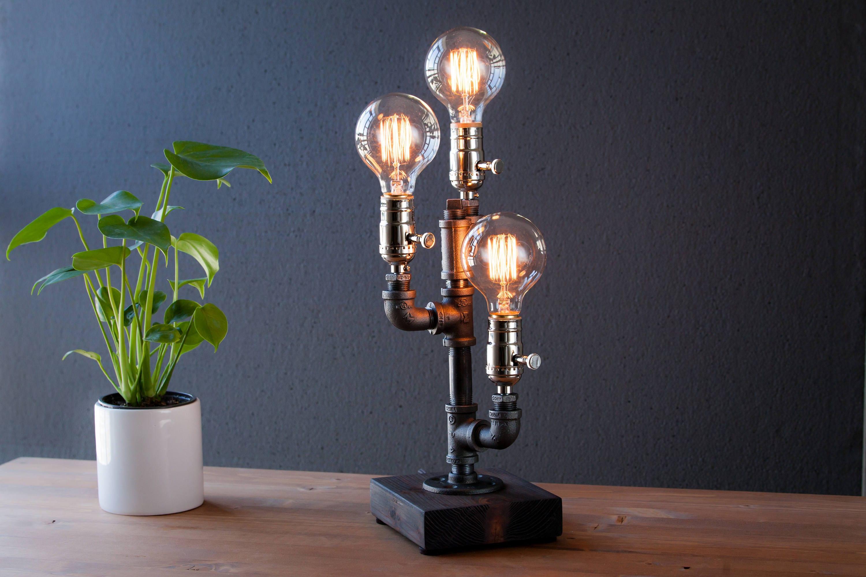 steampunk lighting. Edison Lamp/Rustic Decor/Table Lamp/Industrial Lamp/Steampunk Light/housewarming Gift/gift For Men \u0026 Women/bedside Lamp/desk Accessories Steampunk Lighting E