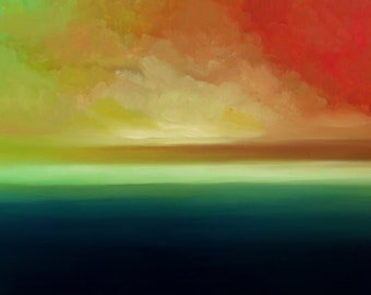 Unknown horizon n3  Modern abstract oil painting Hand Painted