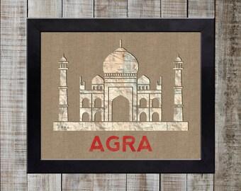 Agra, India World Landmark Print - Taj Mahal NEW!