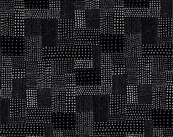 Downton Abbey The Gray Collection - Black and White 1  - Andover Fabrics Patch Black by Modern Quilt Studio - A 8028 CK