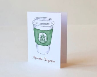 Personalized Coffee Lover Notecard