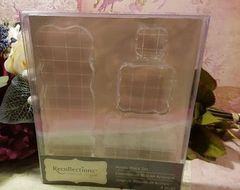 Recollections Signature Acrylic Block Set