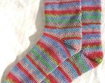 Easter Socks - Crochet Pattern for SOCKS Colourful 4ply PDF