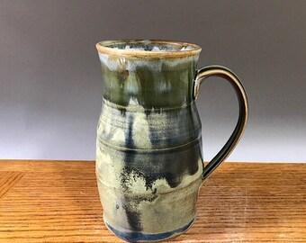 Big ol' Handmade Mug , 28 ounce Tankard Style, Pottery Mug , Stein,  Coffee Mug , Beer Mug , Tea Mug , Ceramic Cup