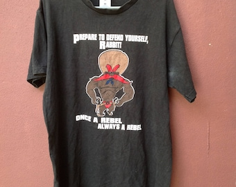 Sale !! 15USD Shipped Vintage 90s Rebeleven Once A Rebel Always A Rebel CartoonSeries T Shirts