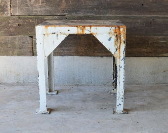 Steel Industrial Side Table **Local Pickup**