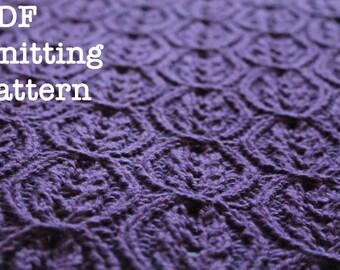 PDF Knitting Pattern: Kari Cabled Baby Blanket
