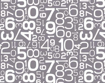 CLEARANCE: Gracie Girl Numbers in Gray by Lori Holt for Riley Blake  Designs
