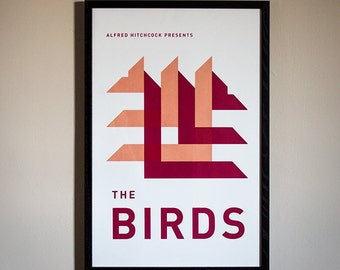 The Birds Minimal Movie Poster - Limited Screenprint