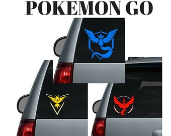 Pokemon Go Team Logo - Valor, Mystic, Instinct - Car Decal or Computer Decal Sticker