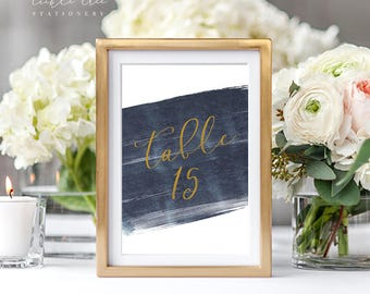 A Modern Splash - Table Numbers (Style 13762)