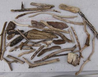 30 Driftwood Pieces, Natural, Craft, Decoration, Rustic, Wood, Nautical