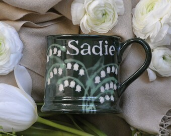 Personalised Lily of the Valley Country Mug